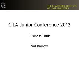 CILA Junior Conference 2012
