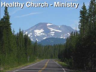 Healthy Church - Ministry
