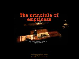 The principle of emptiness JOSEPH NEWTON