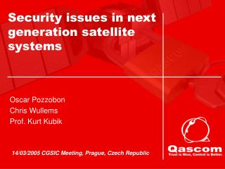 Security issues in next generation satellite systems