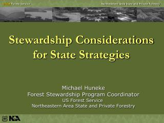 Stewardship Considerations for State Strategies