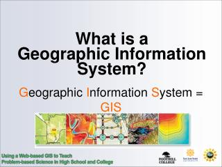 What is a  Geographic Information System?