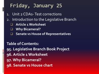Friday, January 25