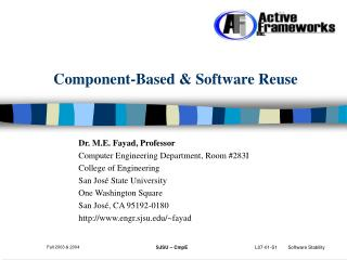 Component-Based & Software Reuse