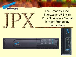 The Smartest Line-Interactive UPS with Pure Sine Wave Output in High Frequency Technology