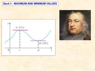 Sec4.1:  MAXIMUM AND MINIMUM VALUES