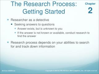 The Research Process: Getting Started