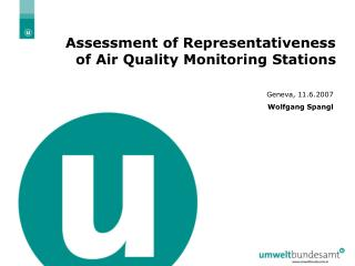 Assessment of Representativeness of Air Quality Monitoring Stations
