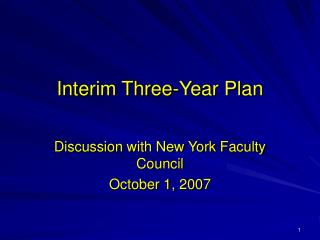 Interim Three-Year Plan