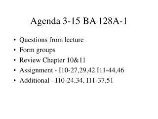 Agenda 3-15 BA 128A-1