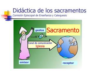 Didáctica de los sacramentos Comisión Episcopal de Enseñanza y Catequesis
