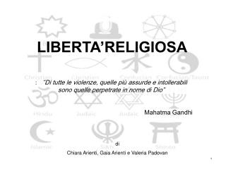 LIBERTA'RELIGIOSA