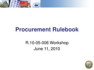 Procurement Rulebook