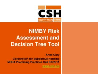 NIMBY Risk Assessment and Decision Tree Tool