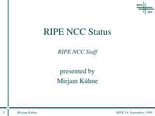 RIPE NCC Status