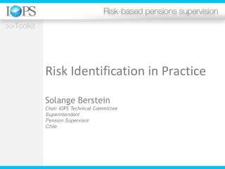 Risk Identification in Practice