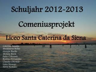 Schuljahr 2012-2013