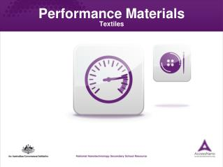 Performance Materials Textiles Module Outcomes