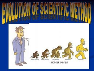 EVOLUTION OF SCIENTIFIC METHOD