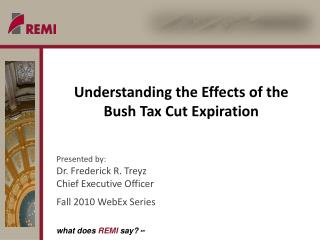 Understanding the Effects of the Bush Tax Cut Expiration