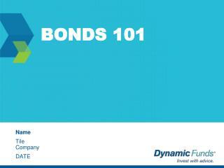 BONDS 101