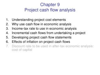 Chapter 9 Project cash flow analysis