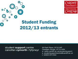 Student Funding 2012/13 entrants