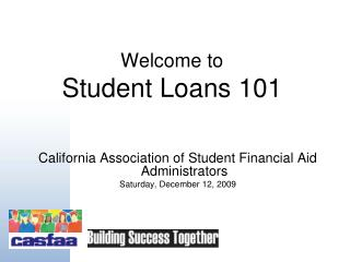 Welcome to Student Loans 101