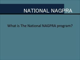 NATIONAL NAGPRA