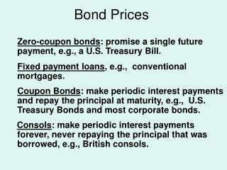 Bond Prices