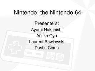 Nintendo: the Nintendo 64