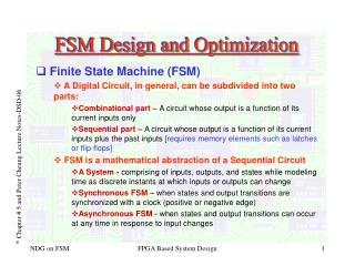 FSM Design and Optimization