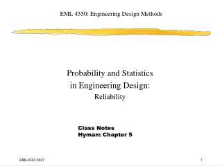 EML 4550: Engineering Design Methods