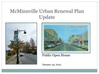 McMinnville Urban Renewal Plan Update
