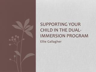 Supporting your child in the Dual-Immersion Program