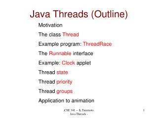 Java Threads (Outline)