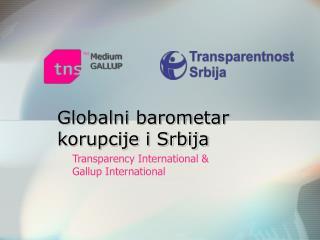 Globalni barometar korupcije i Srbija