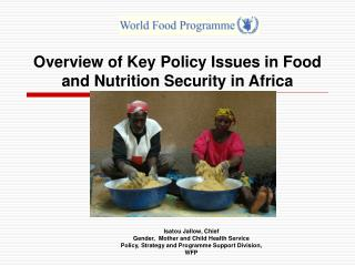 Overview of Key Policy Issues in Food and Nutrition Security in Africa