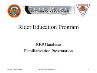 Rider Education Program