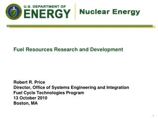 Fuel Resources Research and Development