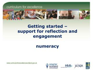 Getting started – support for reflection and engagement numeracy