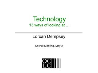 Technology 13 ways of looking at …