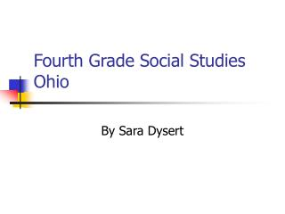 Fourth Grade Social Studies  Ohio