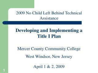 Mercer County Community College West Windsor, New Jersey