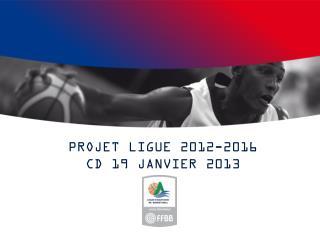 PROJET LIGUE 2012-2016 CD 19 JANVIER 2013