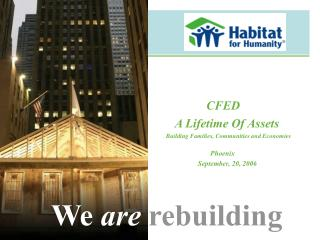 CFED    A Lifetime Of Assets Building Families, Communities and Economies