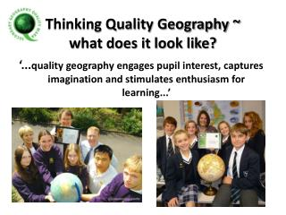 Thinking Quality Geography  what does it look like