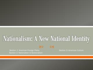 Nationalism: A New National Identity