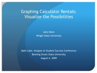 Graphing Calculator Rentals: Visualize the Possibilities