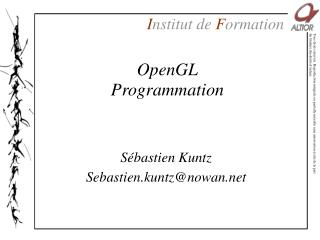 OpenGL Programmation